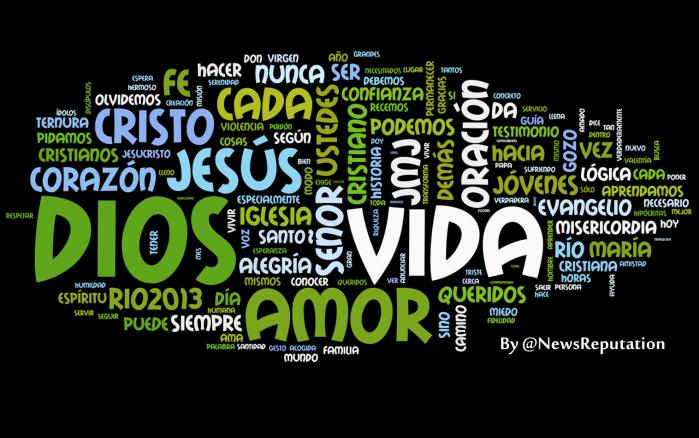 word cloud de @pontifex_es papa francisco en twitter 100 primeros tuits